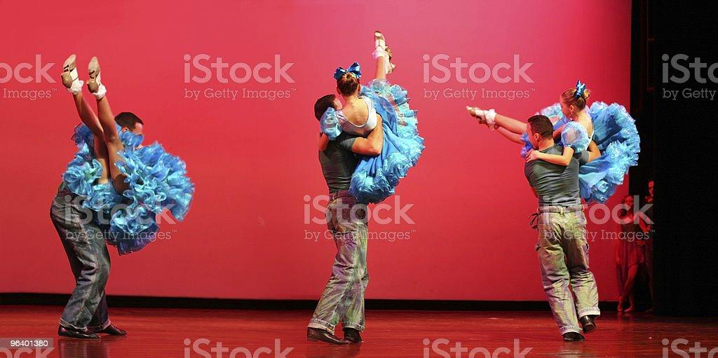 Modern dancing royalty-free stock photo