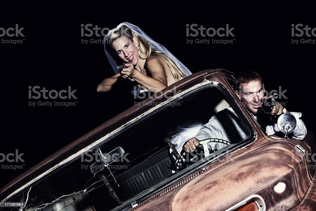 Modern day Bonnie and Clyde stock photo