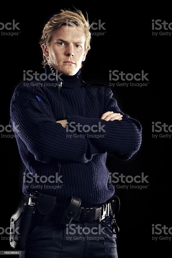 Modern Day Hero Keeping Us All Safe from Criminals royalty-free stock photo