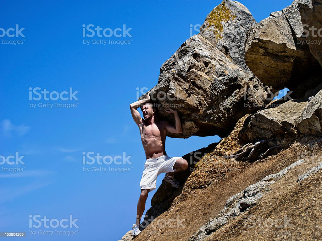 A modern day version of Sisyphus royalty-free stock photo