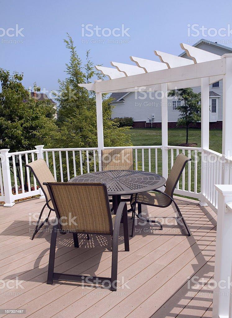 Modern Deck Luxury Home Suburbia royalty-free stock photo
