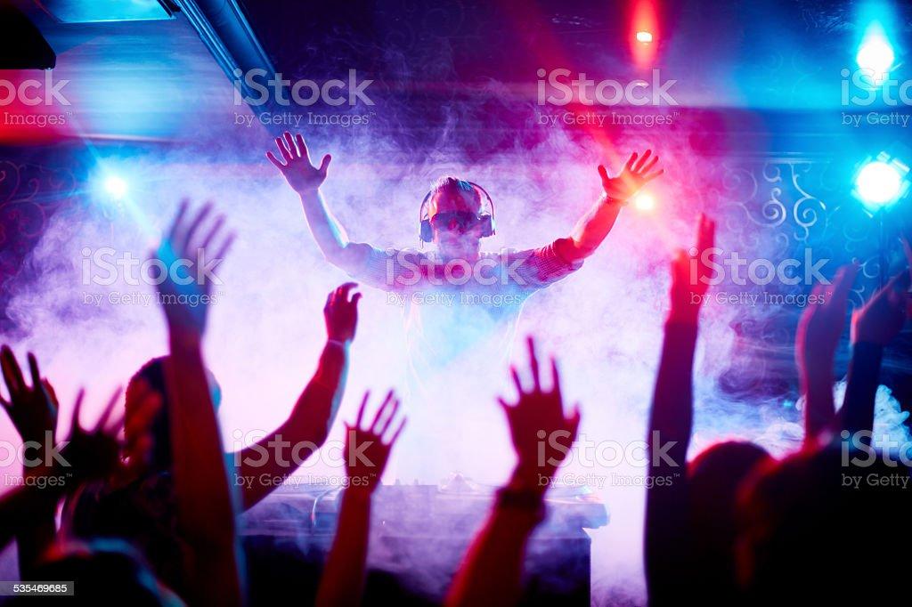 Modern deejay stock photo
