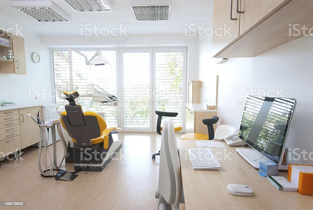 Modern Dental Room stock photo