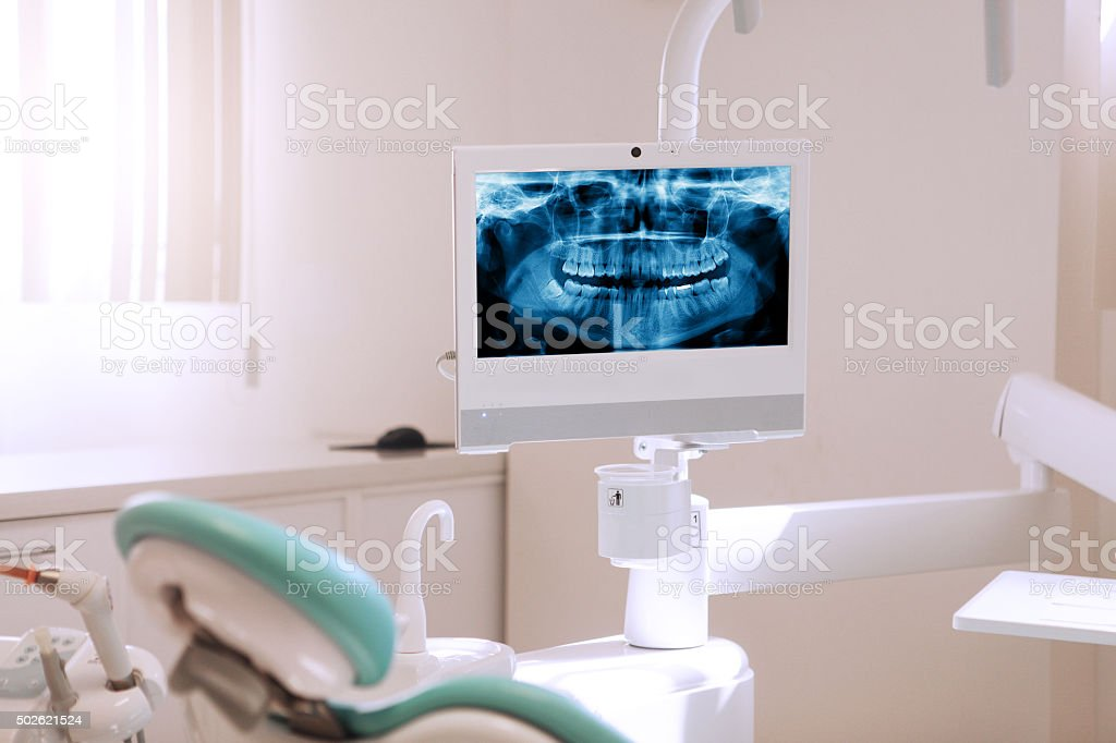 Modern dentist office stock photo