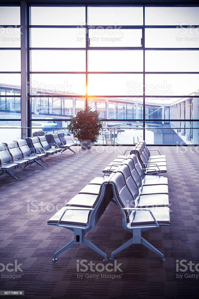 Modern Departure Hall stock photo
