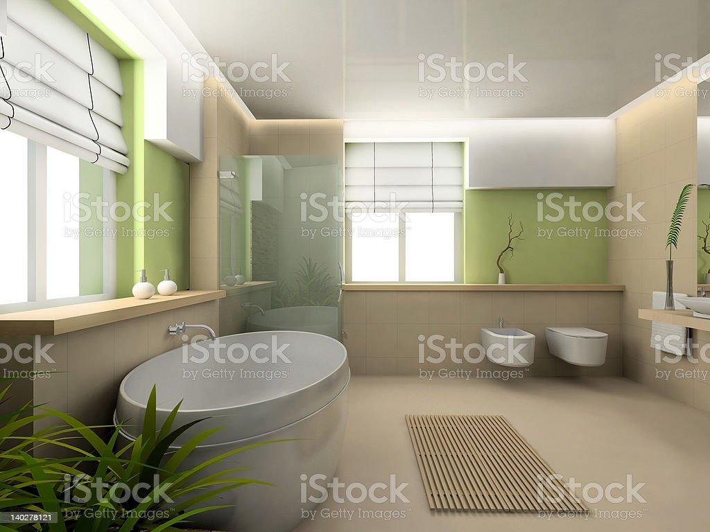 modern design of bathroom royalty-free stock photo