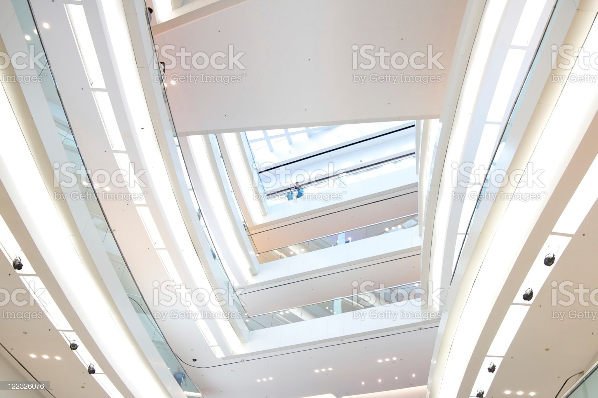 Modern Design of Shopping Mall in Hong Kong royalty-free stock photo