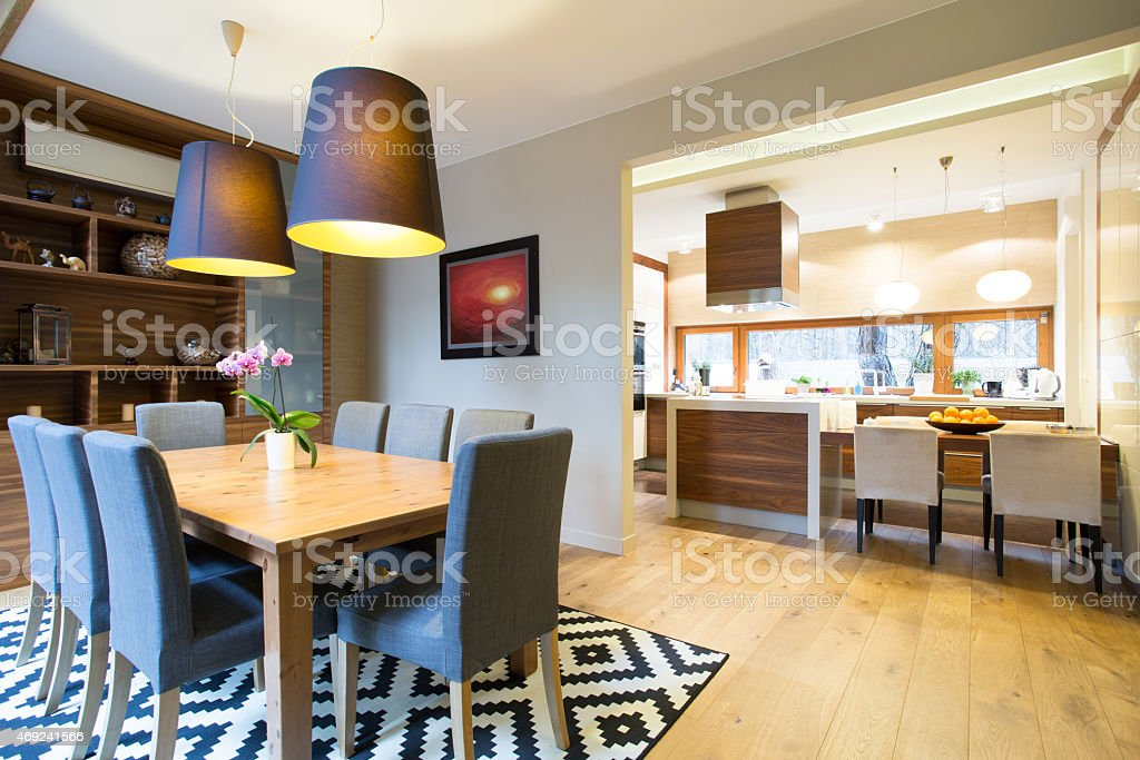 Modern designed interior stock photo