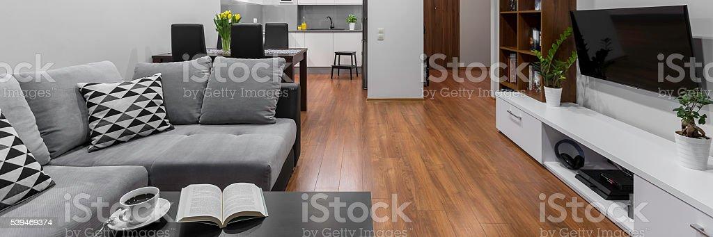 Modern designed space, panorama stock photo