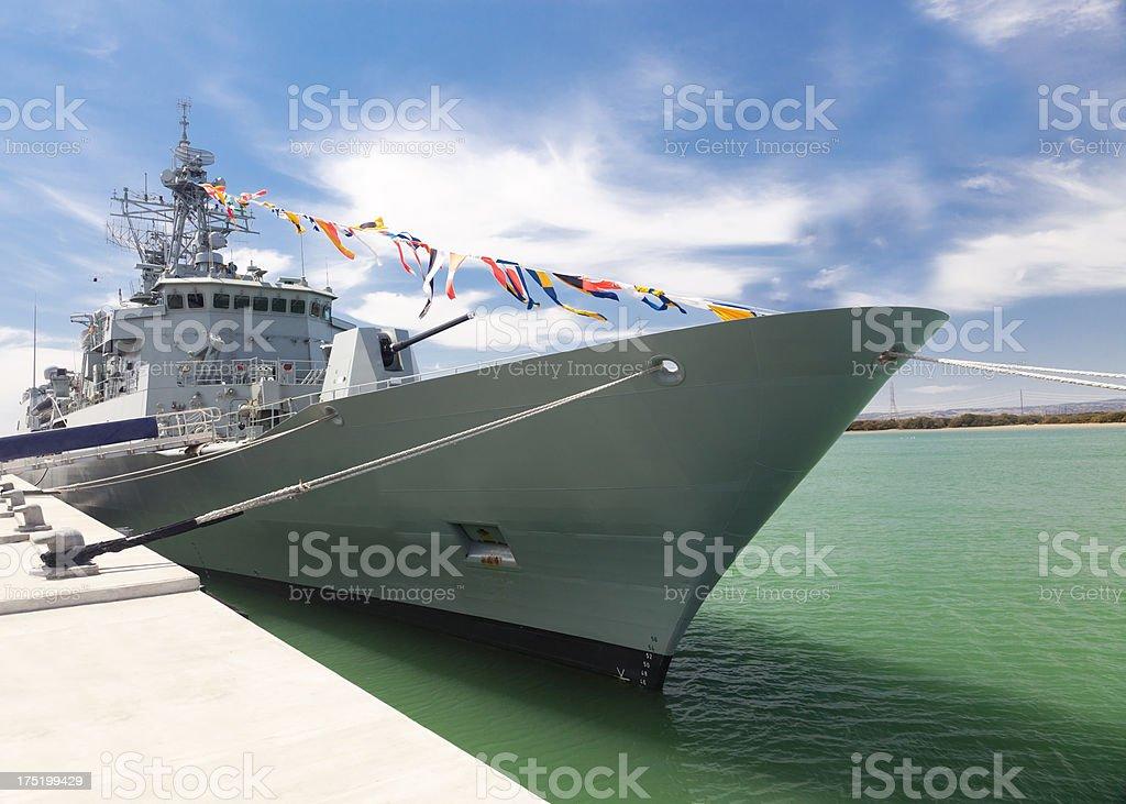 Modern destroyer royalty-free stock photo