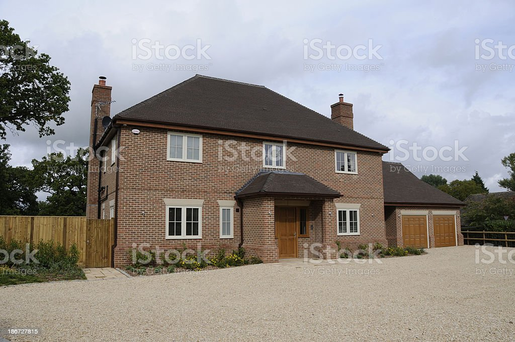 Modern Detatched House royalty-free stock photo