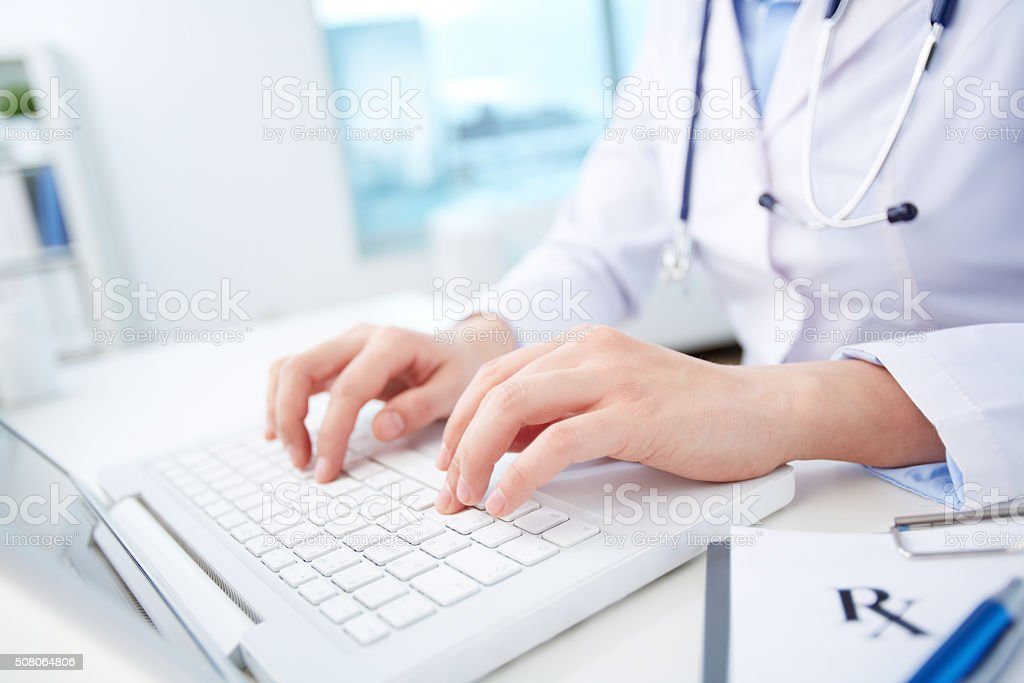 Modern diagnosing stock photo