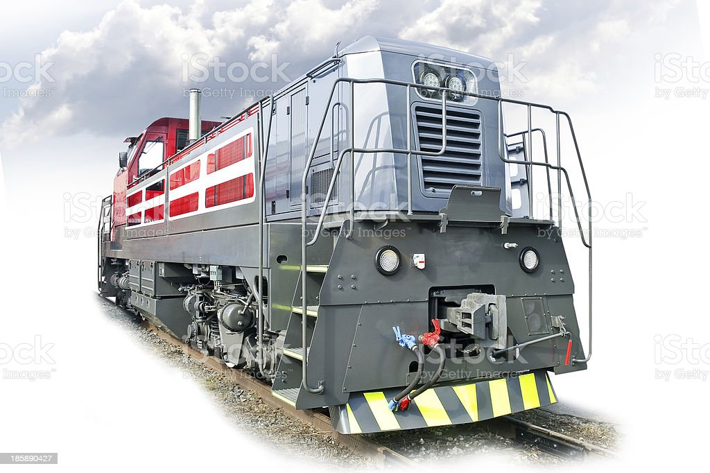Modern diesel engine stock photo