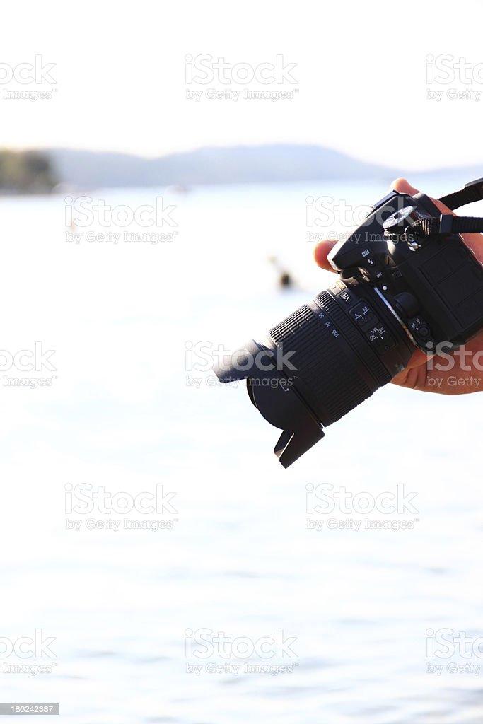Modern digital camera royalty-free stock photo