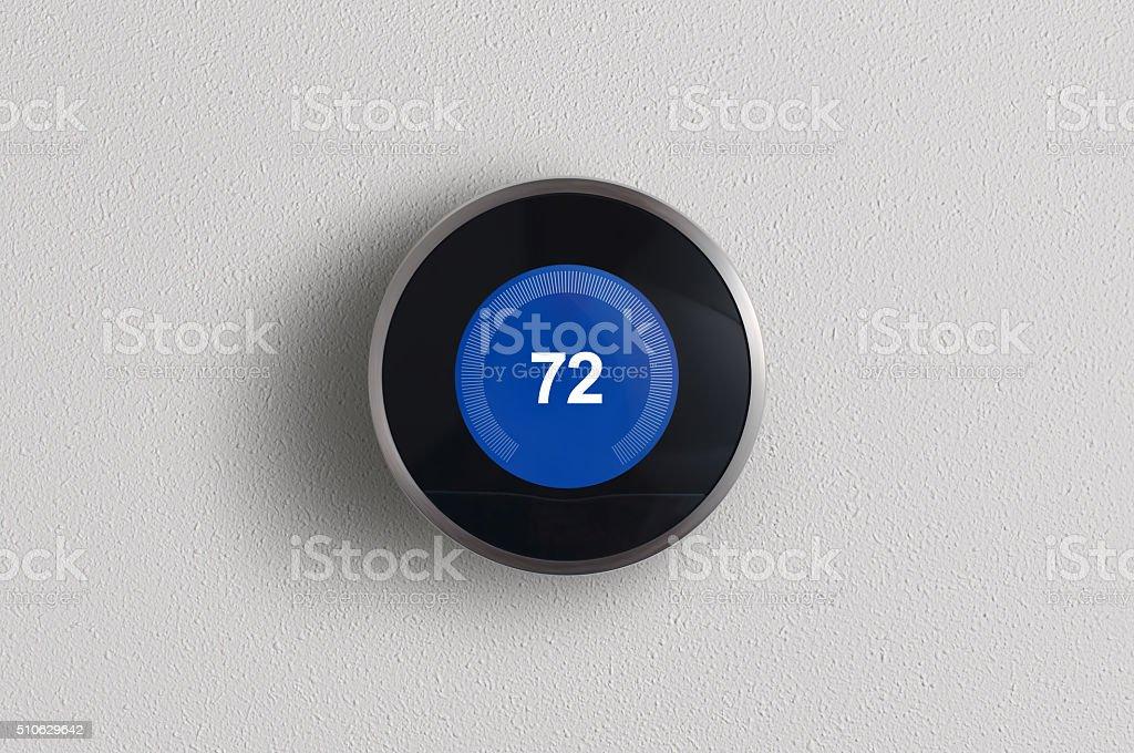 Modern Digital Thermostat stock photo