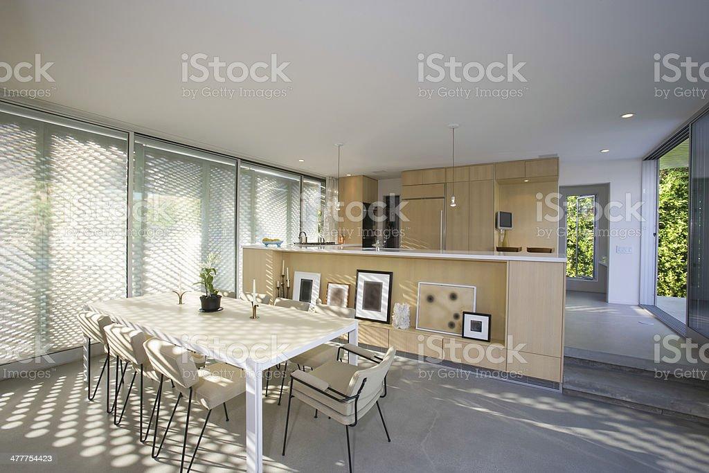 Modern Dining Area stock photo