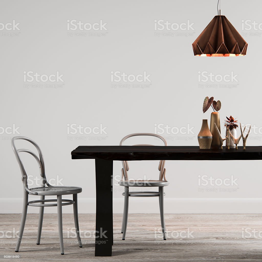 Modern Dining Room Interior design stock photo