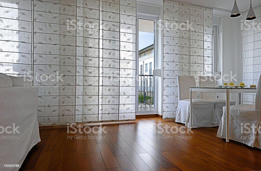 Modern dining room interior royalty-free stock photo