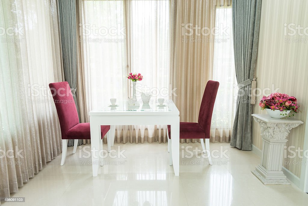 Modern dining room royalty-free stock photo