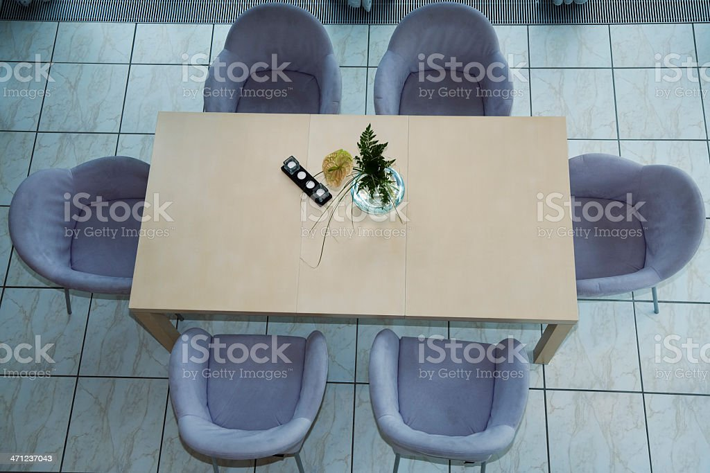 Modern Dining Table and Chairs royalty-free stock photo