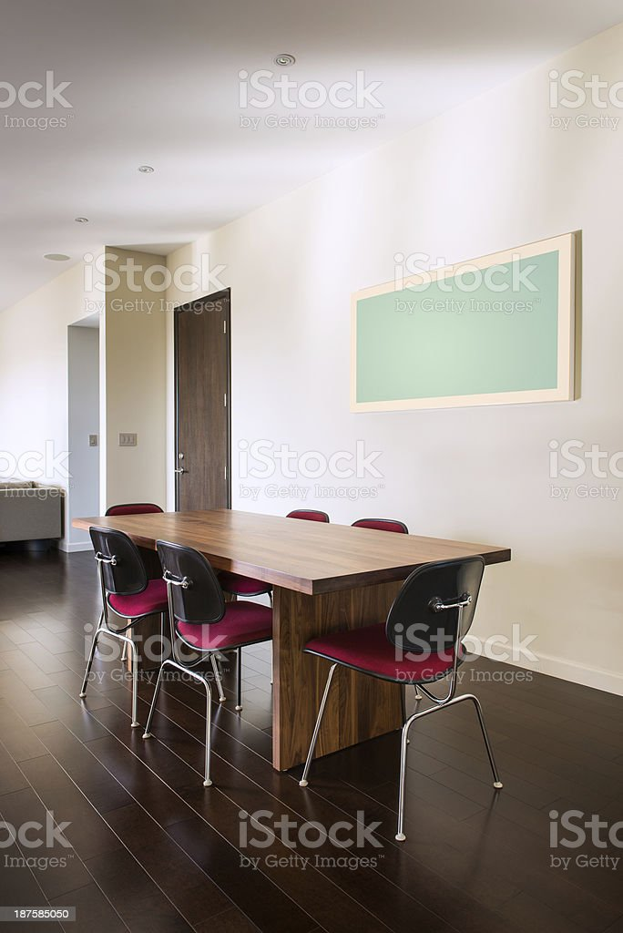 Modern Dining Table stock photo