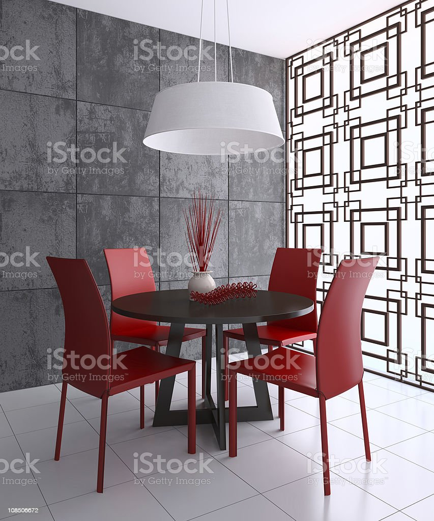 Modern dining-room royalty-free stock photo