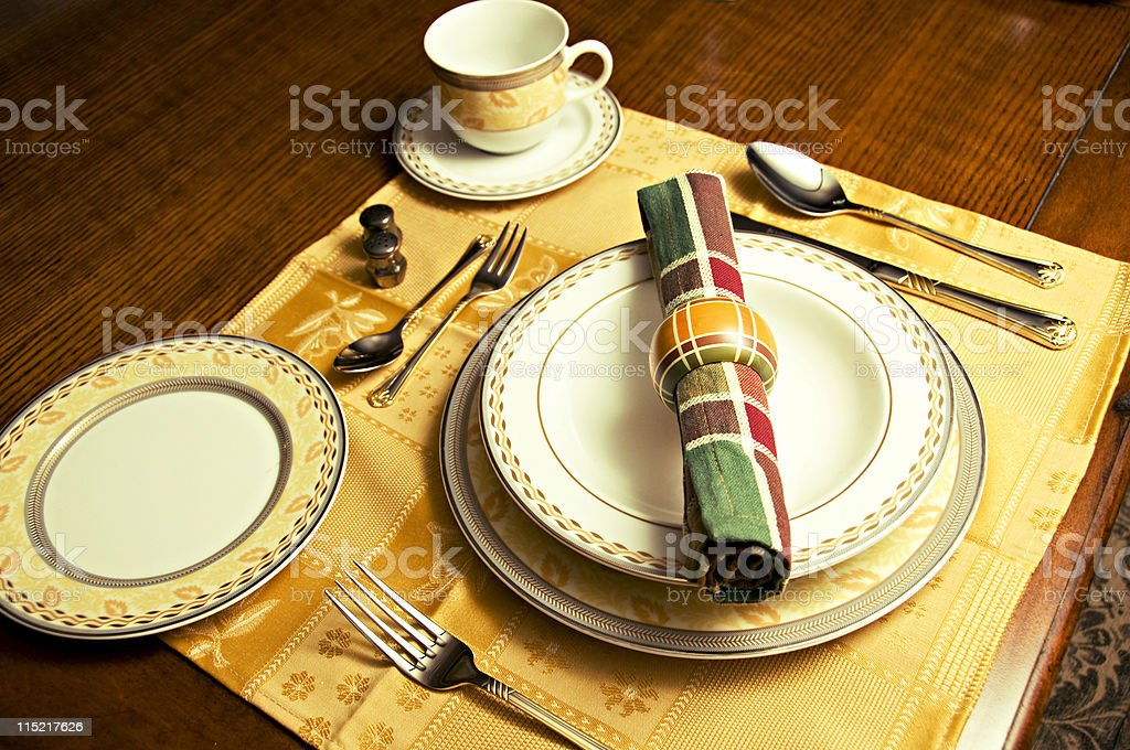 Modern Dinner Place Setting royalty-free stock photo