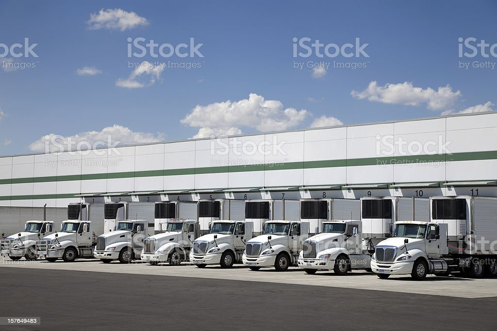 Modern distribution center royalty-free stock photo