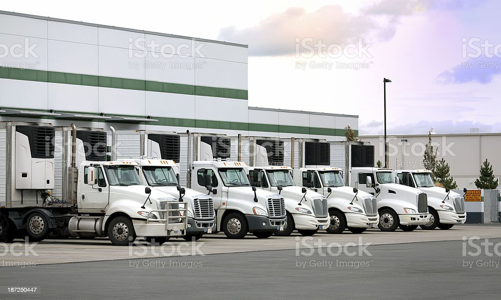 Modern distribution center stock photo