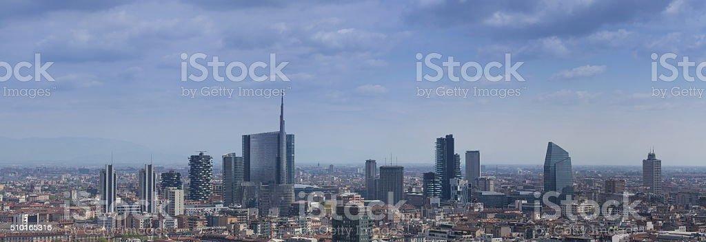 Modern distric, Milan stock photo