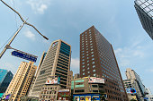 Modern district with business architecture in Seoul