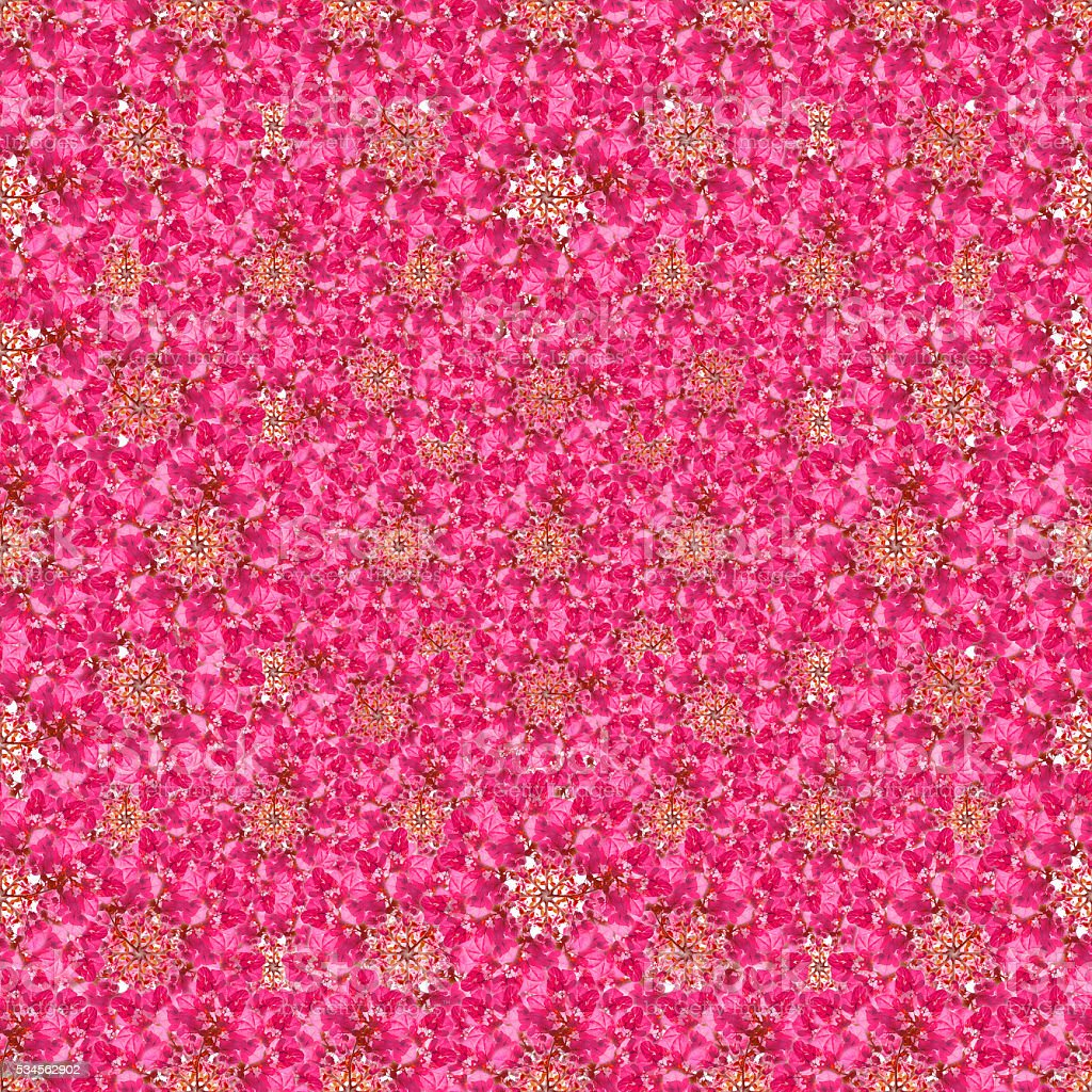 Modern Ditsy Floral Collage Pattern stock photo