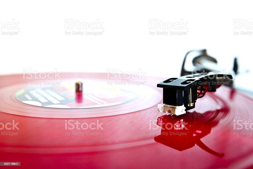 Modern DJ turntable stock photo