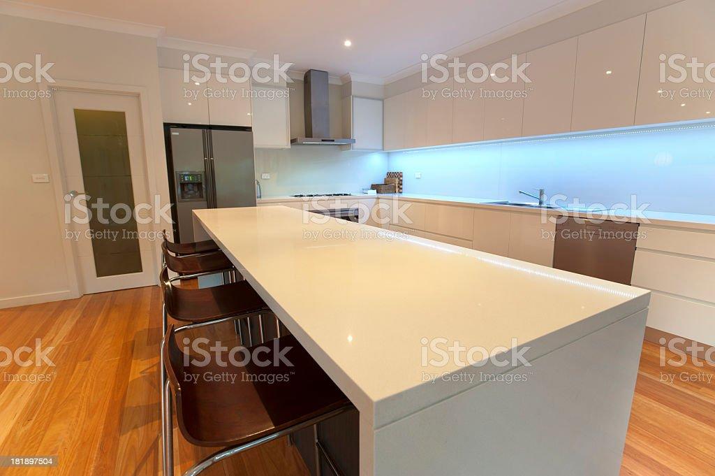 Modern domestic kitchen royalty-free stock photo