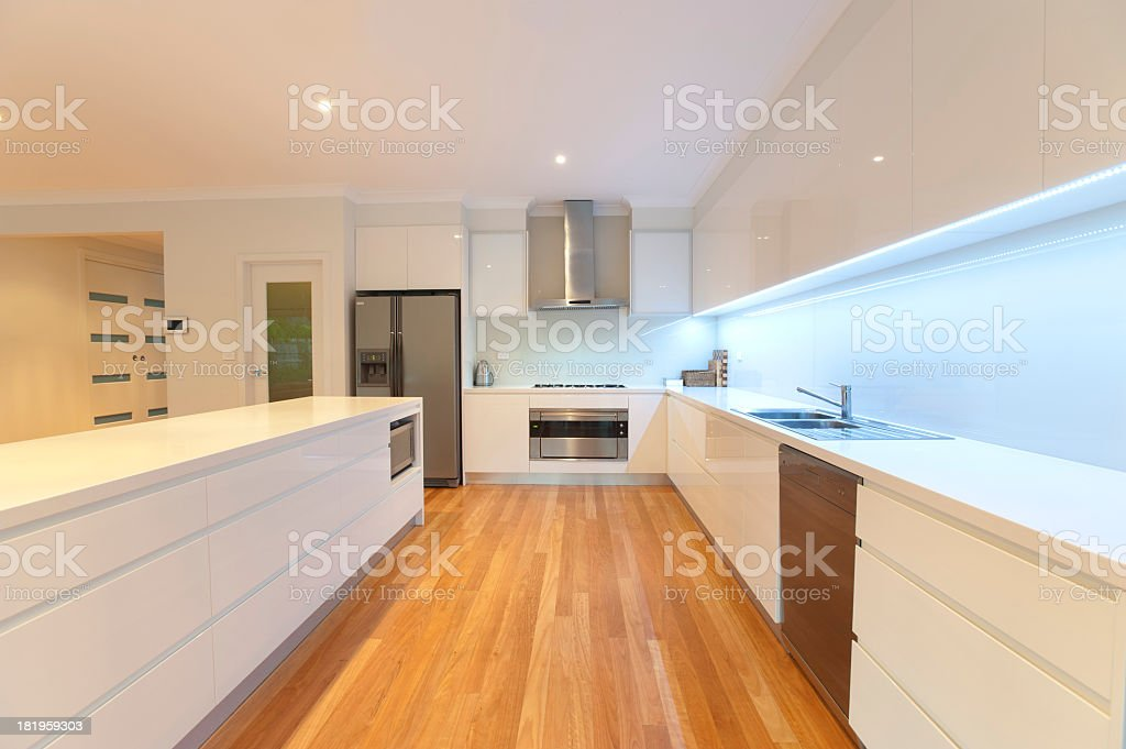 Modern domestic kitchen royalty-free stock photo