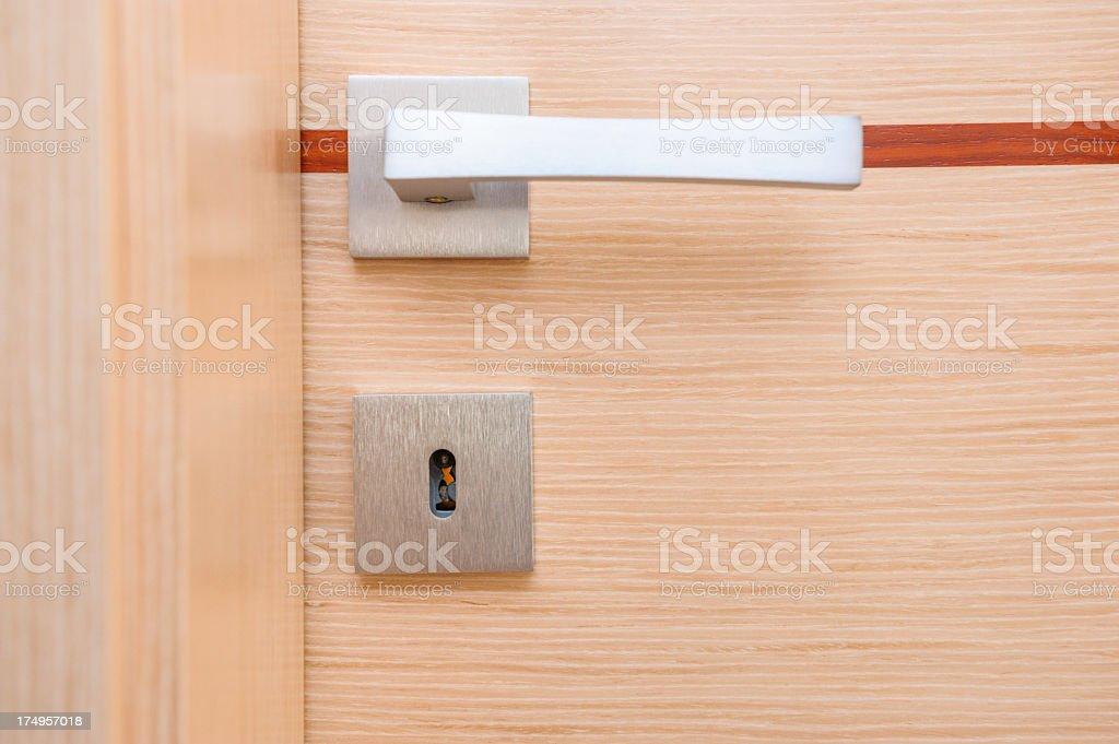 modern door handle stock photo