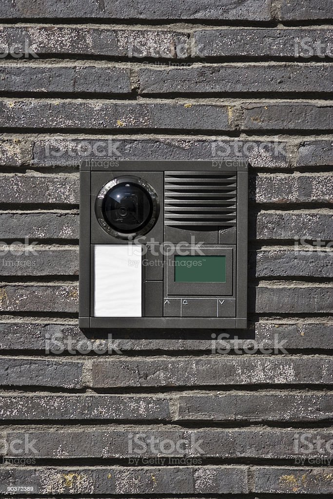 Modern doorbell royalty-free stock photo
