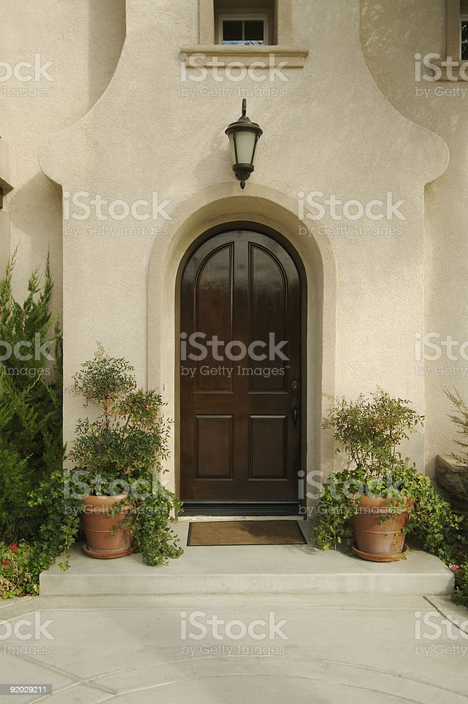 modern Doorway and Patio royalty-free stock photo