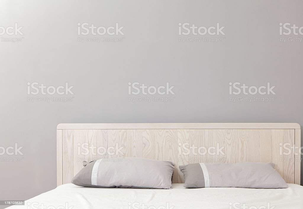 modern double bedroom stock photo