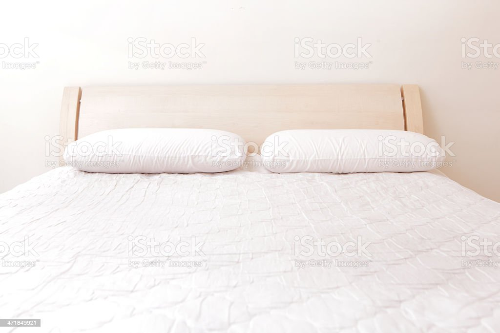 modern double bedroom stock photo