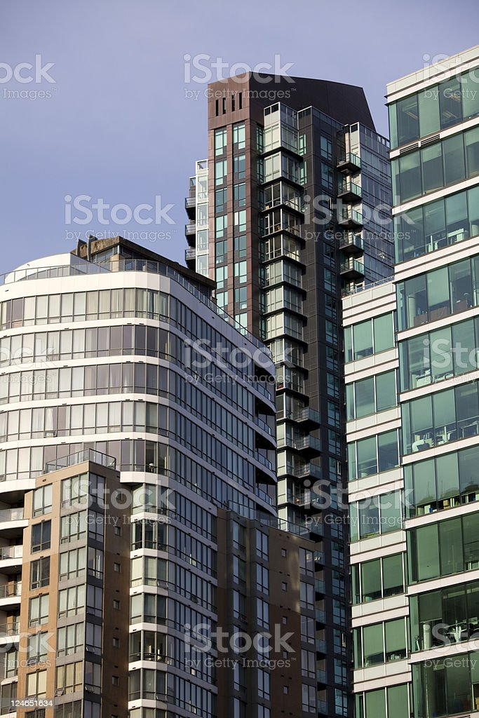 Modern Downtown Buildings royalty-free stock photo