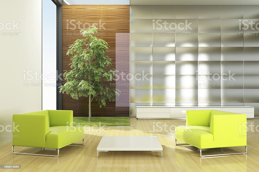 Modern Eco House royalty-free stock photo