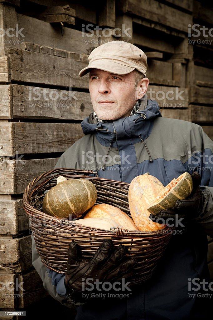 Modern Ecological Farmer royalty-free stock photo