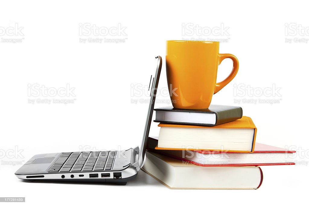 Modern education and online learning stock photo