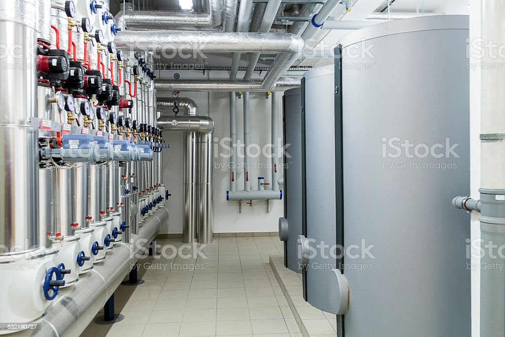Modern efficient heating system. stock photo