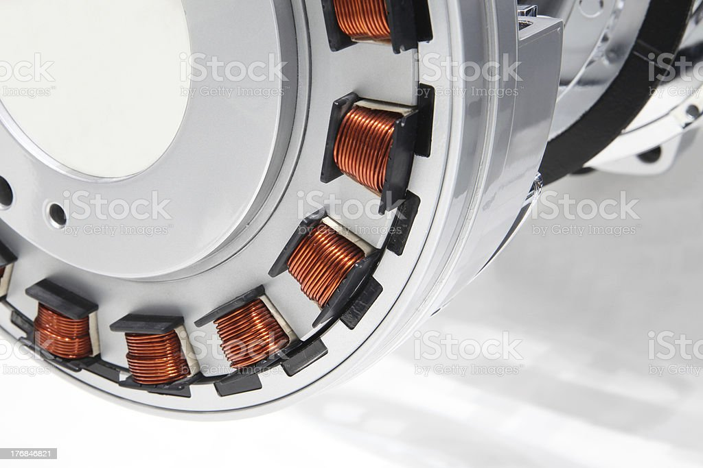 Modern electric motor stock photo
