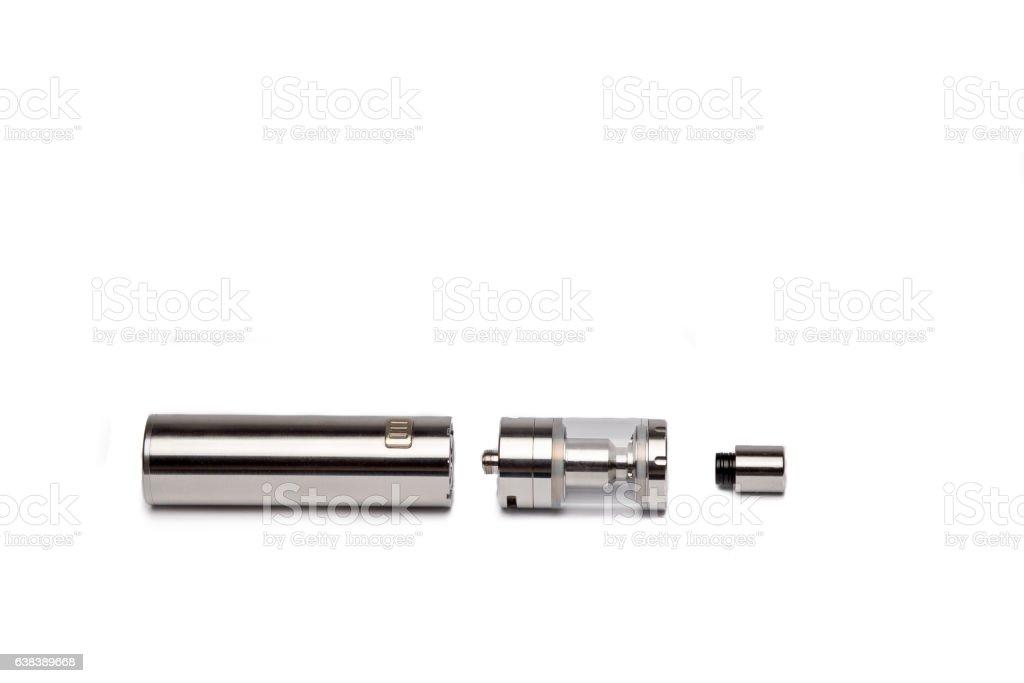 Modern electronic mech mod vaping device. Vape. stock photo
