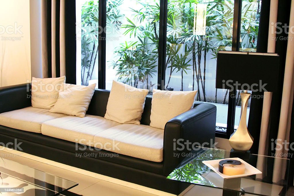 Modern elegant room royalty-free stock photo