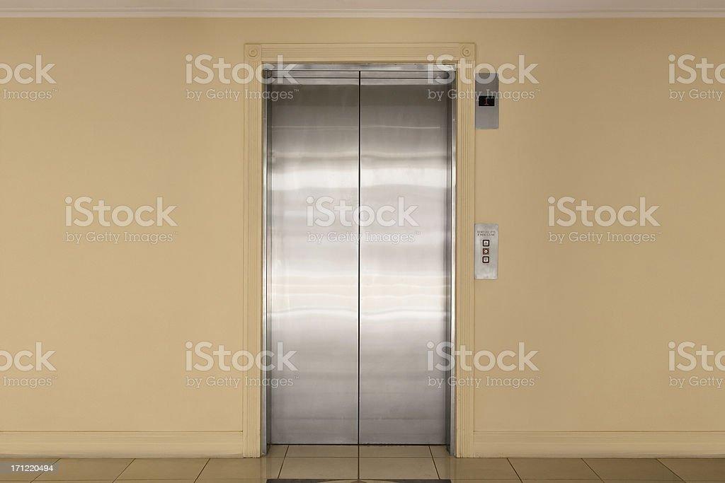 Modern elevator door royalty-free stock photo