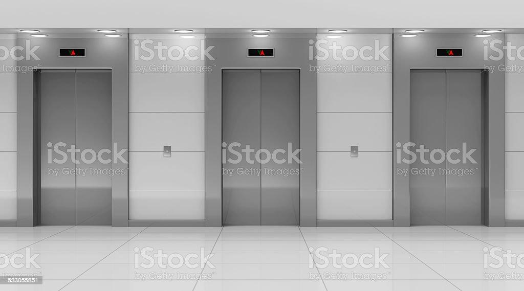 Modern Elevator Hall Interior stock photo